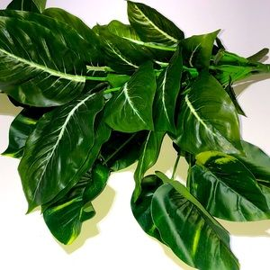 Lush Greenery Faux Greenery Plants Large Leaf